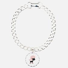 Pink Paris Poodle Bracelet