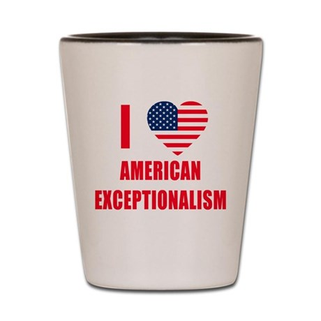 American Exceptionalism Shot Glass