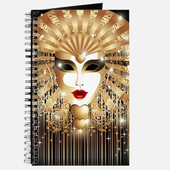 Golden Venice Carnival Mask Journal