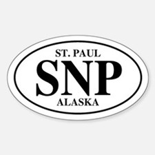 St. Paul Oval Decal