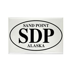 Sand Point Rectangle Magnet
