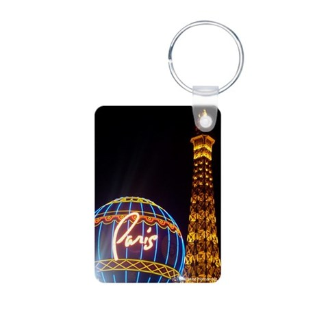 Paris Hotel in Las Vegas Aluminum Photo Keychain