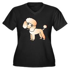 Cute Apricot Poodle Plus Size T-Shirt