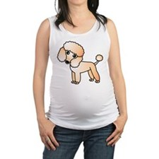 Cute Apricot Poodle Maternity Tank Top