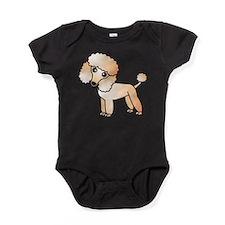 Cute Apricot Poodle Baby Bodysuit