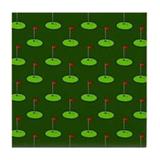 'Golf Course' Tile Coaster