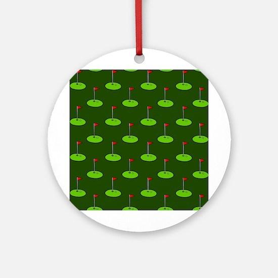 'Golf Course' Ornament (Round)