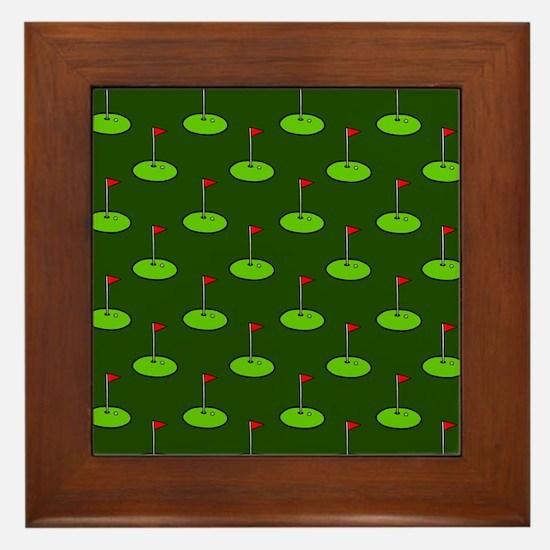 'Golf Course' Framed Tile