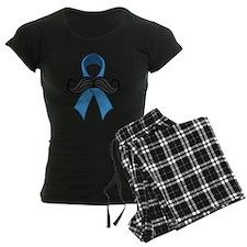 Prostate Awareness Ribbon Moustache Pajamas