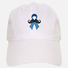Prostate Awareness Ribbon Moustache Baseball Baseball Baseball Cap