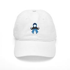 Prostate Awareness Ribbon Moustache Baseball Hat