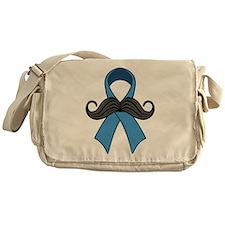 Prostate Awareness Ribbon Moustache Messenger Bag