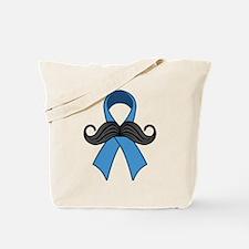 Prostate Awareness Ribbon Moustache Tote Bag
