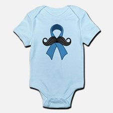 Prostate Awareness Ribbon Moustache Body Suit