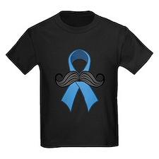 Prostate Awareness Ribbon Moustache T-Shirt
