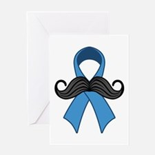 Prostate Awareness Ribbon Moustache Greeting Cards