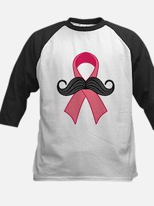 Pink Ribbon And Moustache Baseball Jersey