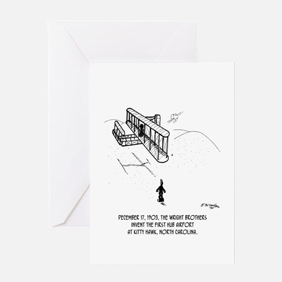 First Hub Airport Greeting Card