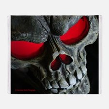 Red Eyed Skull Throw Blanket
