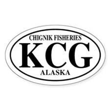 Chignik Fisheries Oval Decal