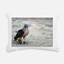 Red Tailed Hawk Catch Rectangular Canvas Pillow