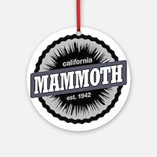 Mammoth Mountain Ski Resort California Black Ornam