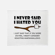 Roast Marshmallows Hate You Throw Blanket