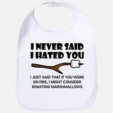 Roast Marshmallows Hate You Bib