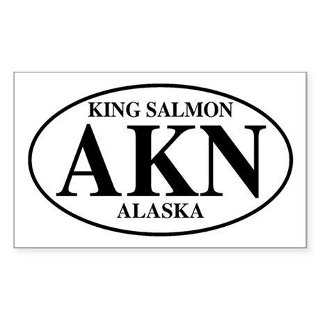 King Salmon Rectangle Sticker