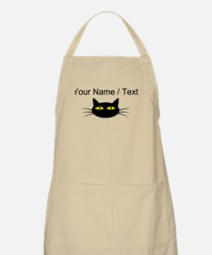 Custom Black Cat Face Apron