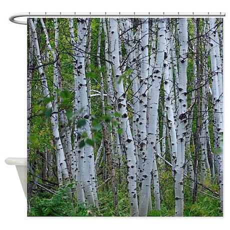 Thick Aspen Grove Shower Curtain