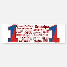 #1 Grandfather / Bumper Bumper Bumper Sticker
