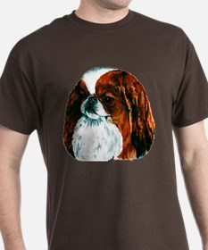 Red Sable Japanese Chin Dark Colored T-Shirt