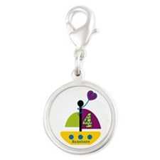Personalized 4th Birthday Sailboat Charms