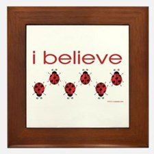 I believe in ladybugs Framed Tile
