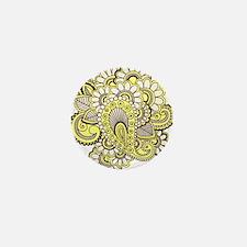 Creamy Henna Mini Button