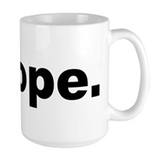 Nope (Black) Mugs