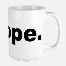 Nope (Black) Mugs