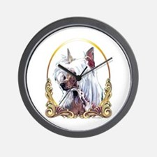 Chinese Crested Christmas/Holiday Wall Clock