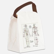 Chinese Meridians and Pressure po Canvas Lunch Bag