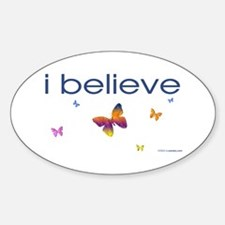 I believe in butterflies Oval Decal