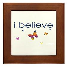 I believe in butterflies Framed Tile