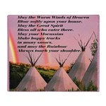 Cherokee Blessing Prayer Throw Blanket