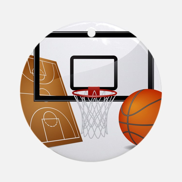 Basketball, Sports, Athlete Ornament (Round)