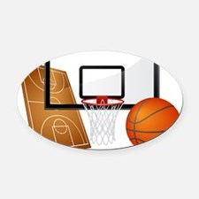 Basketball, Sports, Athlete Oval Car Magnet