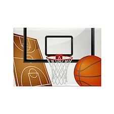 Basketball, Sports, Athlete Magnets