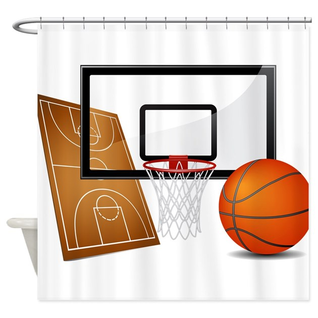 Basketball Sports Athlete Shower Curtain By