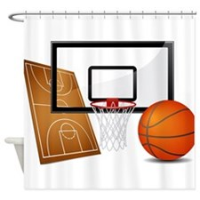 Basketball, Sports, Athlete Shower Curtain