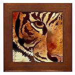 Wild Tiger Framed Tile