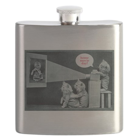 Home Movie Day kittens Flask